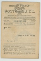 United States Official Postal Guide November 1886 Boston history stamps - $26.00