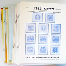 1869 Times US Pictorial Research Assoc newsletters lot 44 stamps postal ... - $75.00
