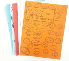 La Posta lot of 7 Journal of postal history stamp collecting US  - $36.00