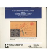 Patric Henry Collection Kaufmann auction catalog stamps postal history p... - £9.84 GBP