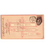 Powell Bros advertising cover Springboro PA 1887 livestock postal - £7.83 GBP