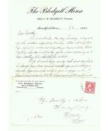 Blodgett House hotel advertising cover letter 1922 Frankfort antique eph... - $6.83 CAD