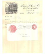 Parker Holmes advertising cover invoice 1900 Boston MA boots postal - €14,46 EUR