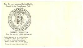 Franklin New Hampshire first day cover 1932 Daniel Webster vintage postal  - $5.00