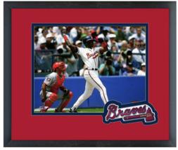 Fred McGriff Atlanta Braves Circa 1994 - 11 x 14 Team Logo Matted/Framed... - $43.55