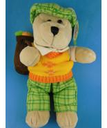 "10"" Starbucks Bearista Bear GOLFER plush Teddy Bear 50th Edition 2006 go... - $12.61"