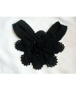 EUC Yves Saint Laurant 100% Lambswool Crocheted Jabot  Neckpiece  Made i... - $39.99