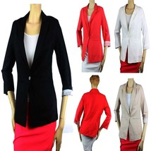 100% Linen One-Button Long Sleeve BLAZER Lining Nice Shape Casual Suit T... - $29.99