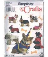 Simplicity Crafts Dogwear Dog Costumes #9257 Uncut - $7.00