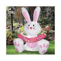 Easter Bunny Decoration Rabbit Airblown Inflatable 4 Feet Tall  Outdoor ... - £70.93 GBP