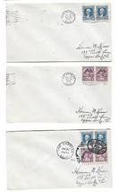 708 710 Washington Bicentennial Pairs 7/30/32 LA Olympics Opening Day 3 Covers  - $11.88