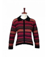 Colorful Cardigan,Jacket is made with Alpaca wool - $185.00