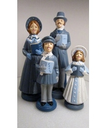 Christmas Carolers Family Victorian or Dickens Style Bisque Ceramic - $19.99