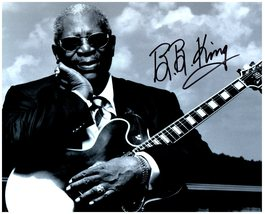 An item in the Entertainment Memorabilia category: BB KING SIGNED AUTOGRAPHED 8X10 PHOTO w/ Certificate of Authenticity  932