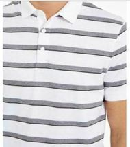 Calvin Klein Men's Liquid Cotton Slim-Fit Stripe Polo Shirt 2X Large image 3