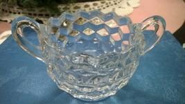 Vintage Fostoria American Open sugar bowl - $10.00