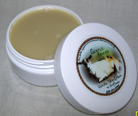 Vanilla GENTLE FRIEND moisturizing skin cream, natural face cream, body butter