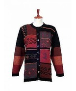 Ethnic long cardigan,made of pure Alpaca wool - $272.00