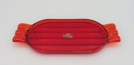 Viking Cream & Sugar Tray, Ruby Red Janice Pattern Line 4500 - $14.00