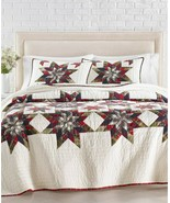 Martha Stewart Collection Star Plaid Patchwork Artisan Twin Quilt $460 - $177.75