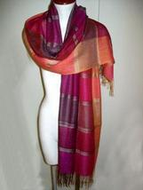 Weaved shawl,scarf mix Babyalpaca wool and Silk - $95.00