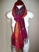 Weaved shawl,scarf of Babyalpaca wool and Silk mix - $1.689,45 MXN