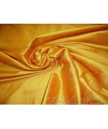 Honey Gold  Shantung Dupioni Faux Silk fabric p... - $5.99