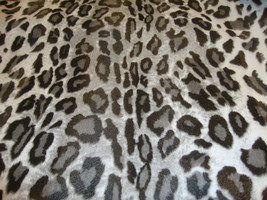 "56"" Wide Leopard Vinyl Black White upholstery sofa pillow fabric per yard - $16.95"
