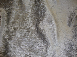 """56"""" Wide Steal Gray Crocodile Upholstery Chenille fabric per yard - $12.99"""