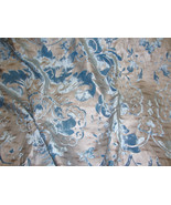Aquarius blue Damask burnout  velvet silver bac... - $14.99