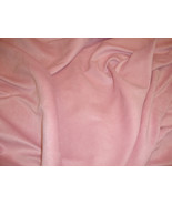 Pink Garment suede Drapery and clothing fabric ... - $2.99