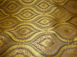 """56"""" Wide Treasure Pecan Transitional Chenille Fabric with Gold upholstery furnit - $10.95"""