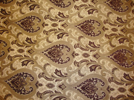 """56"""" Wide Monte Cristo Wine  Damask Damask  Chenille Fabric with Gold upholstery  - $10.95"""