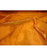 Saffron  Shantung Dupioni Faux Silk fabric per ... - $4.99