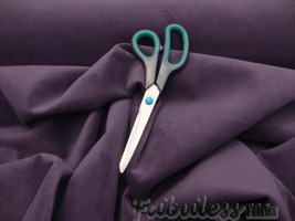 """56"""" Wide Aubergine Polyester Micro Plush Velvet upholstery Drapery Fabric by the - $9.95"""