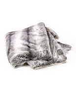 6ft by 5ft' Chinchilla Mink grey fading Throw Blanket / Bed Spread Cover... - $225.57 CAD