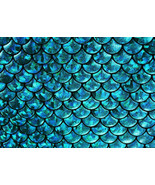 4-Way Stretch Blue Mermaid Hologram Spandex Met... - $16.99