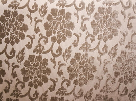 """Shaddow Shelby 344 floral velvet Upholstery Drapery fabric by the yard 56"""" Wide - $19.95"""