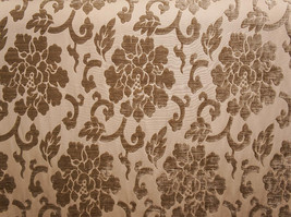 """Archive Shelby 344 floral velvet Upholstery Drapery fabric by the yard 56"""" Wide - $19.95"""