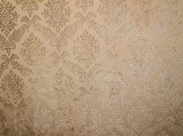 """Shadow Shelby 100 Damask velvet Upholstery Drapery fabric by the yard 56"""" Wide - $19.95"""