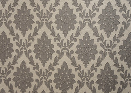 """Chiant Slate Damask Linen Upholstery Drapery fabric by the yard 56"""" Wide - $19.95"""
