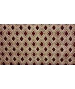 Claret Diamond Chenille Upholstery Drapery fabr... - $14.95