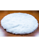 5' Diameter White Thick Round Area Rug / Plush ... - $149.95