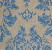 """Baby blue Damas scarlet Jacquard Upholstery and Drapery fabric per yard 56"""" wide - $19.95"""