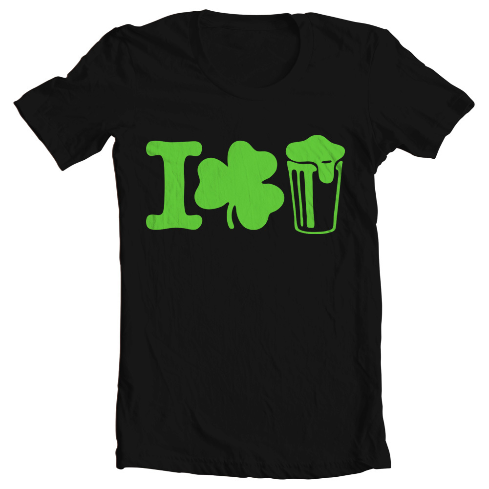 "Women's St. Patrick's Day ""I Shamrock Beer"" Tee"