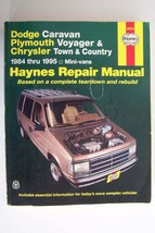 Haynes Repair Manual Dodge Caravan Plymouth Voyager Chrysler 1984-95 Min... - $6.58