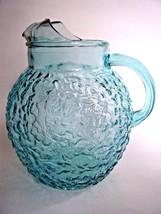 Vintage Anchor Hocking Aqua Glass Ball Pitcher - $14.80