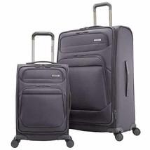 Samsonite Epsilon NXT Luggage Gray 2-Piece Softside Expandable Wheels Zipper - $204.99