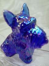 Duke Scottie Scottish Terrier Dog Cobalt Blue Carnival Glass 3/4/2004 - $15.88
