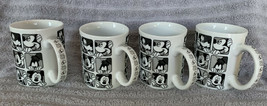Set of 4 Disney Mickey Mouse All Over Faces of Mickey - Coffee Mug Cup Brand New - $49.99